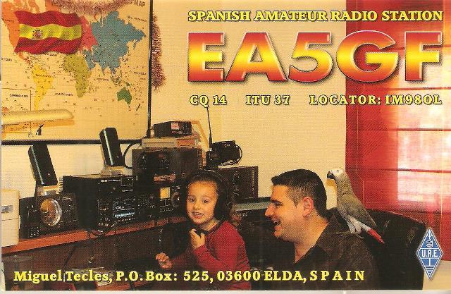 QSL - EA5GF - QSO Sat. FO29 - 10/03/2018 - Espanha - Europa