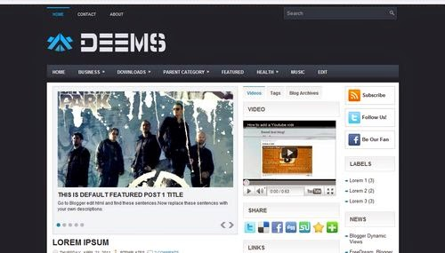 Deems - Free Blogger Template