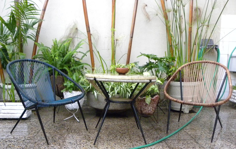 Juego De Jardin De Hierro Con Almohadones: Sillones de hierro ...