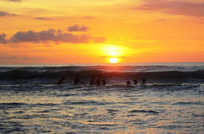 Sunset in Kuta Beach, Bali