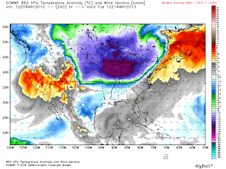 It looks like an Arctic Outbreak may be in the offing for the middle