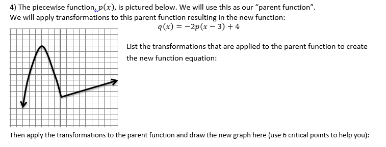 Beautiful Math PreCalculus Transformations – Parent Function Worksheet
