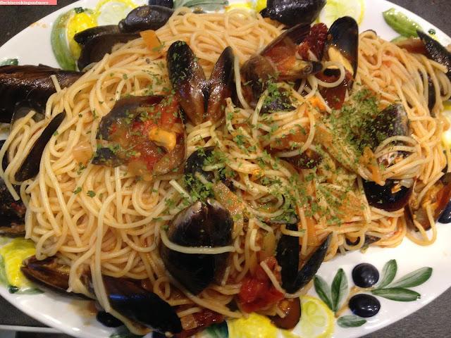 fischiscooking, spaghetti, miesmuscheln, cozze