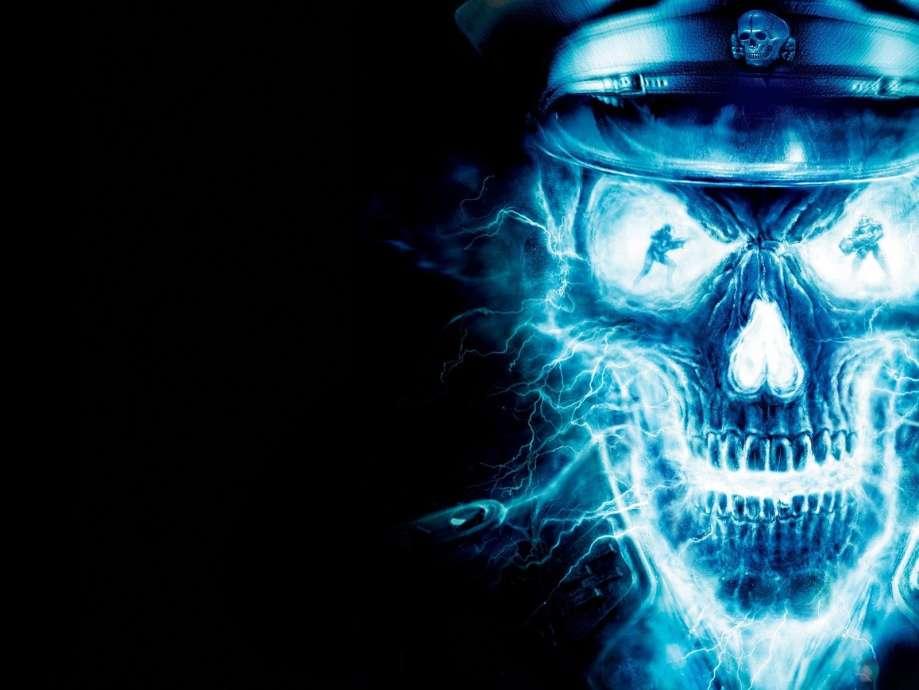 Cool Flaming Skulls