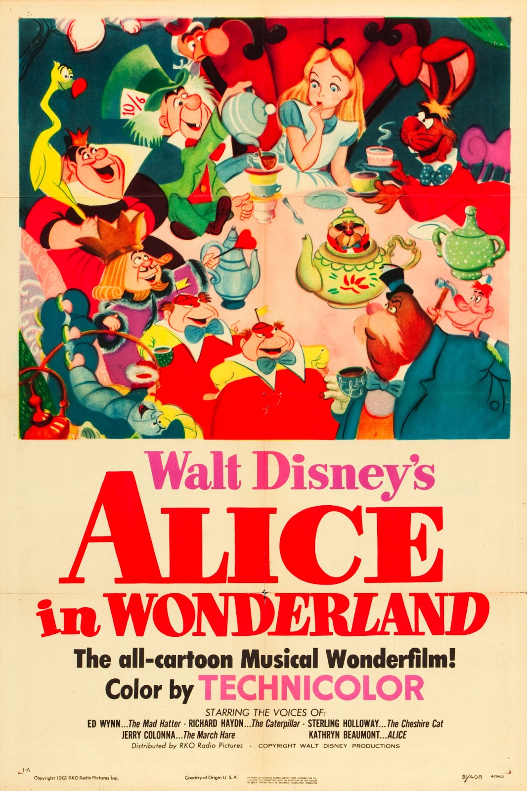Pop Culture Safari!: Vintage Disney movie poster: Alice in ...