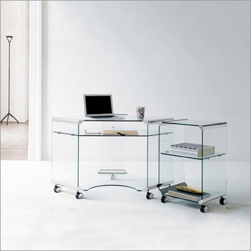 Decora y disena escritorio para computadora de vidrio port il for Escritorio de vidrio