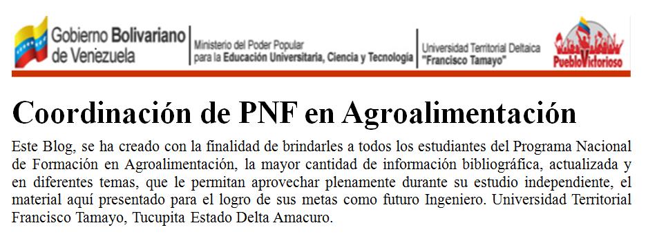 Coordinación de PNF en Agroalimentación