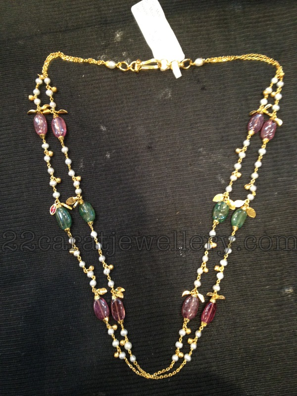 indian beads collection chains best ruby cz with of latest designs and layering set clasps pin jewellery