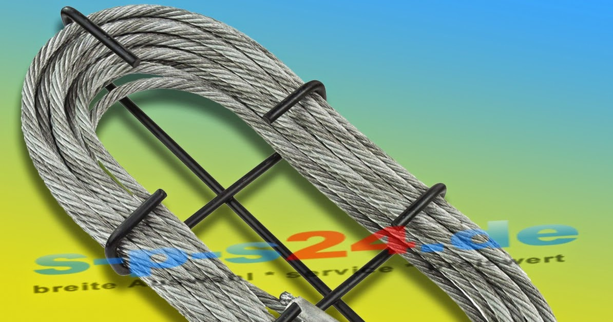 s-p-s24.de: Stahlseil 20 meter verzinkt mit Haken | 1,5 to