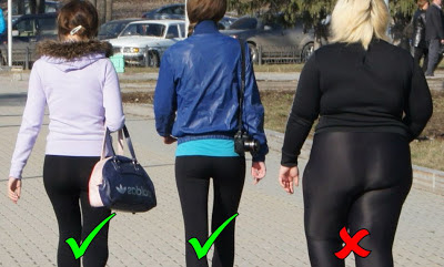 Yoga pants are not for everyone