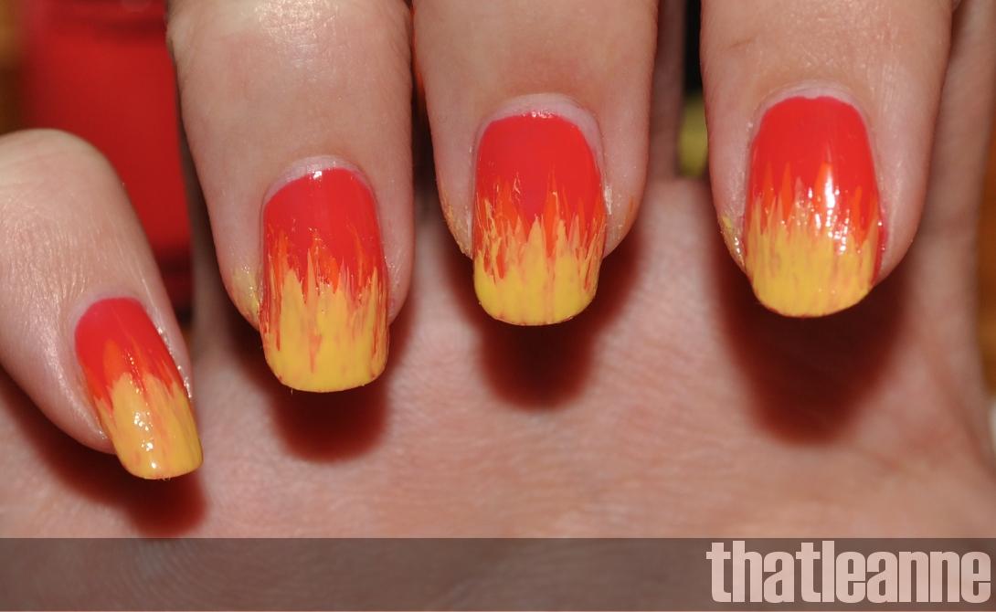 thatleanne: Firey Autumn Leaves nail art