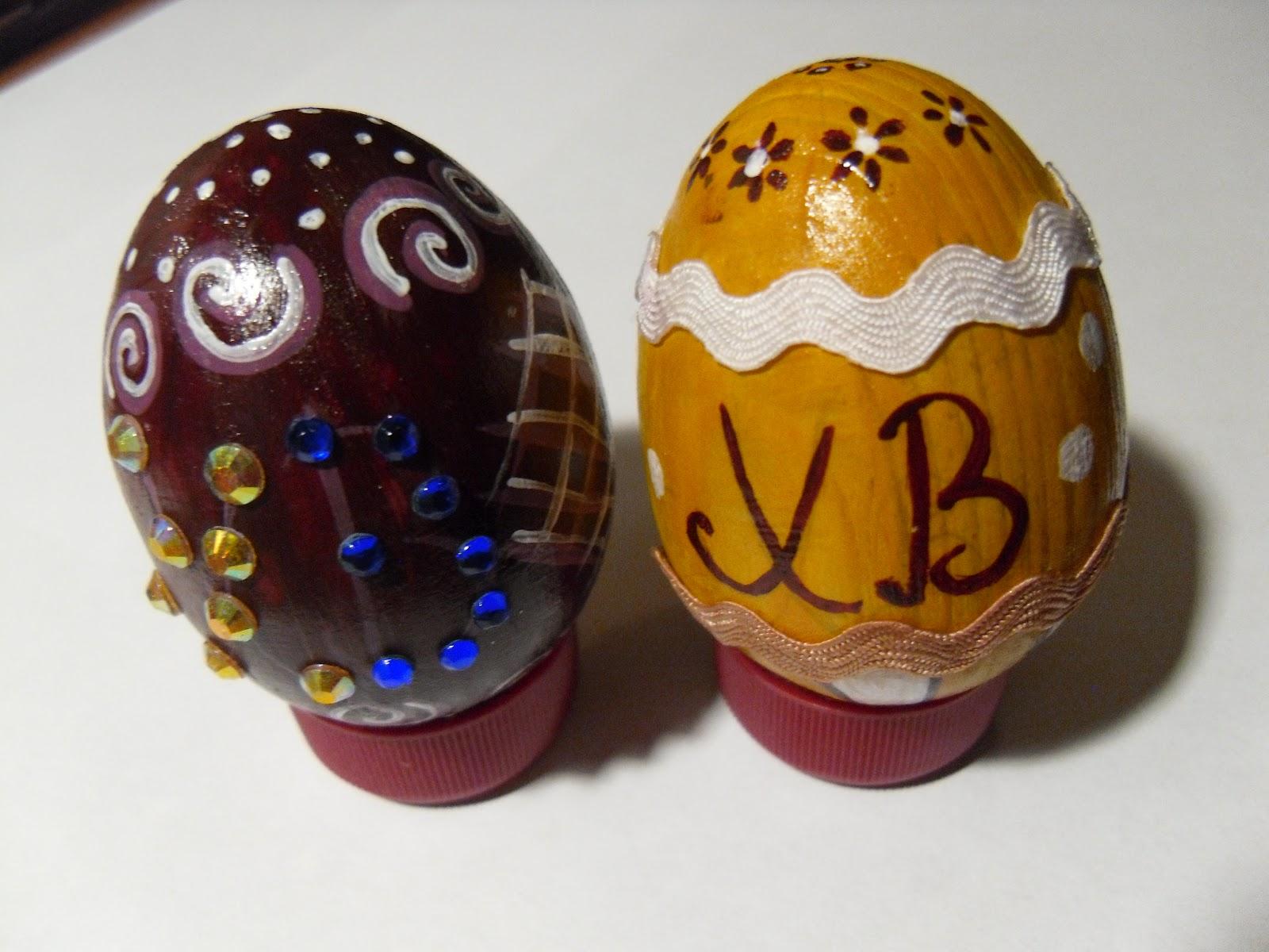 Яйца к пасхе своими руками лентами 13