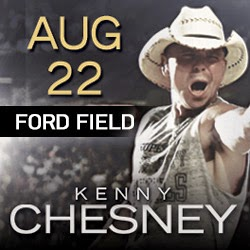 music, country music, event, Detroit, Ford Field, show, Tour, tickets, Kenny Chesney, Eric Church, Live Nation, Ticketmaster, VIP, concert