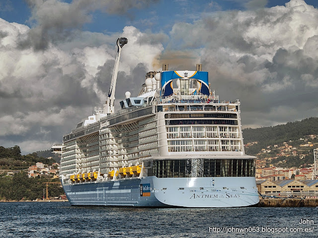 fotos de barcos, imagenes de barcos, anthem of the seas, royal caribbean, vigo