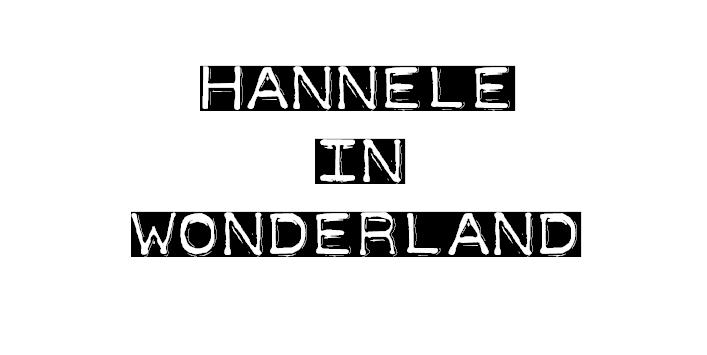 Hannele in Wonderland