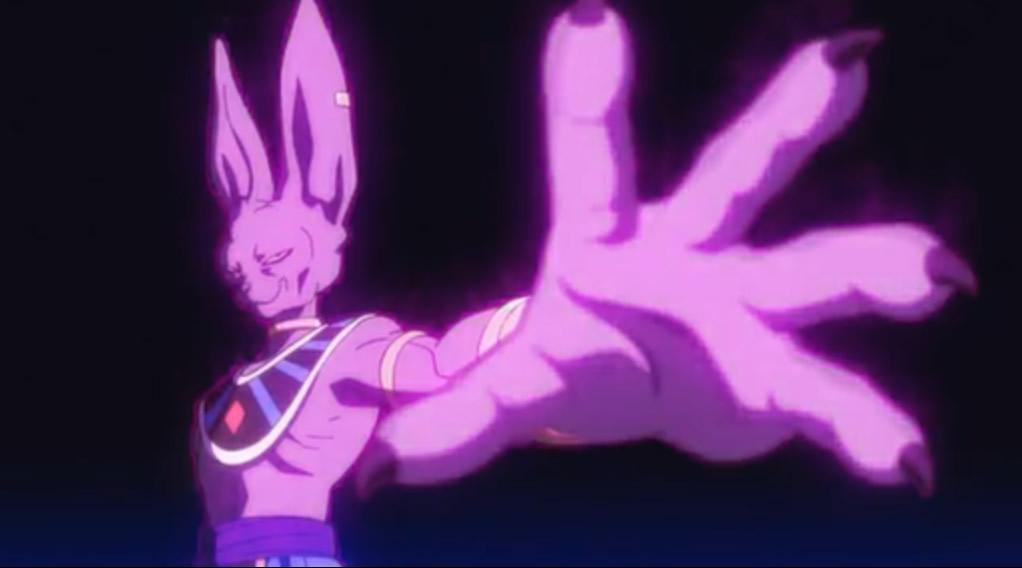 Bills photo aiming Goku for the death strike