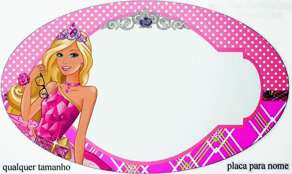 Barbie Princess Charm School: Free Printable Invitation
