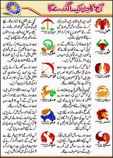 Daily Horoscope In Urdu 27 April 2015