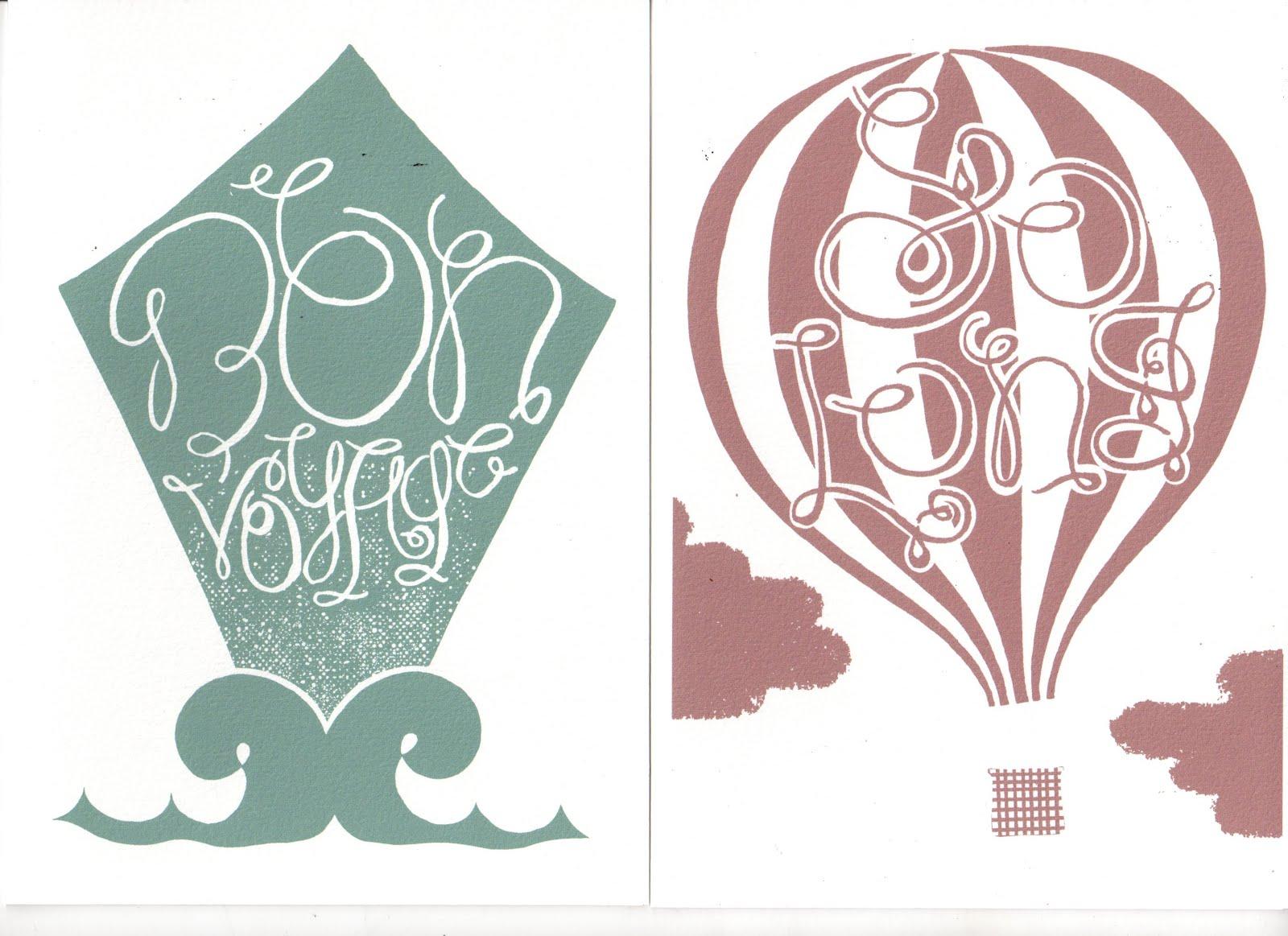 Adam barnett design revisited card designs 39 bon voyage 39 for Sejour design