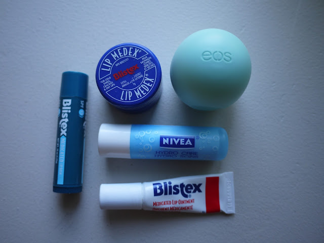 blistex medicated ointment lipbalm lip balm eos nivea hydrocare