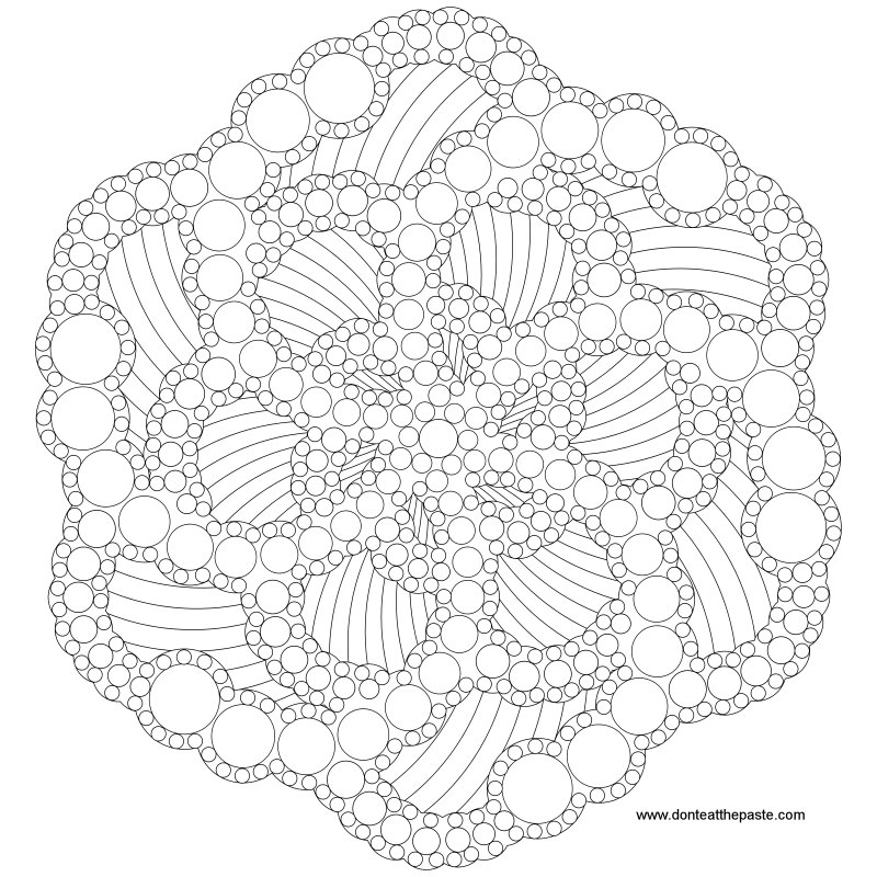Dotted mandala to color- also available in transparent PNG #coloring