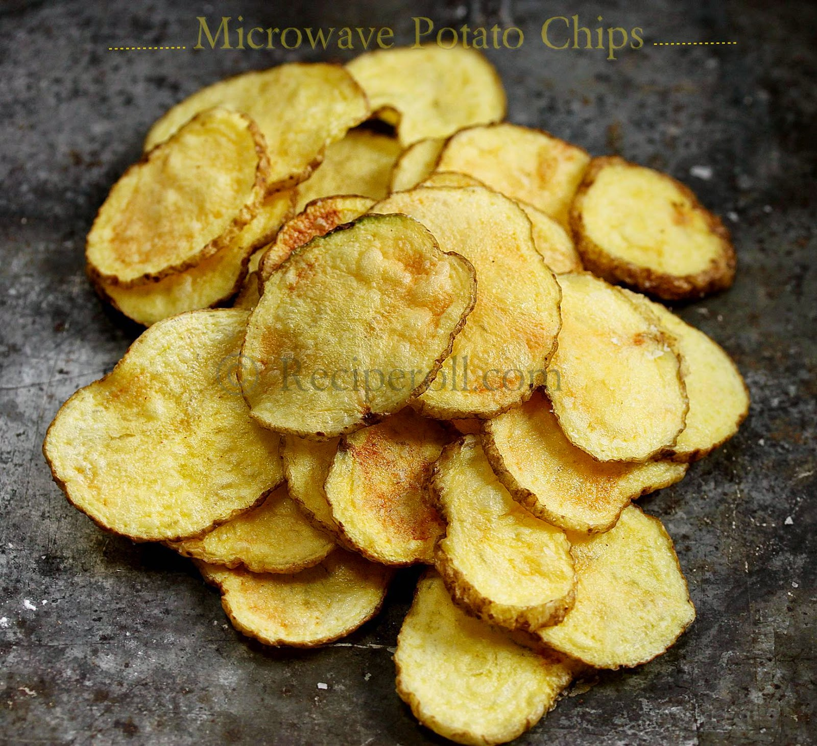 microwave potato chips | how to make potato chips in microwave