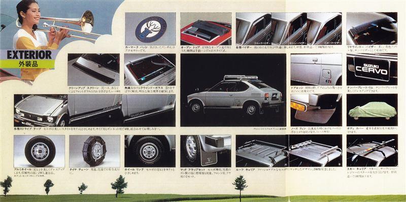 suzuki cervo ss20, auta z lat 70, klasyczna motoryzacja, wyposażenie, JDM