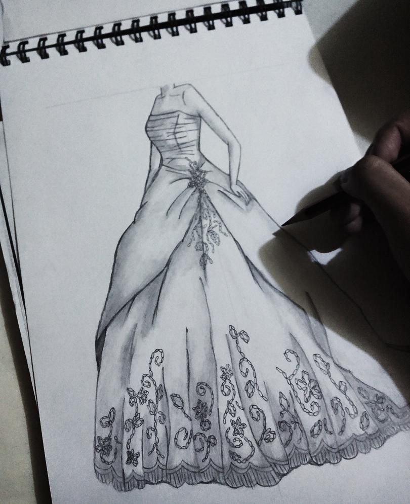 Dibujos de disenos de vestidos de noche