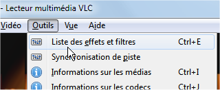 capture d'écran VLC