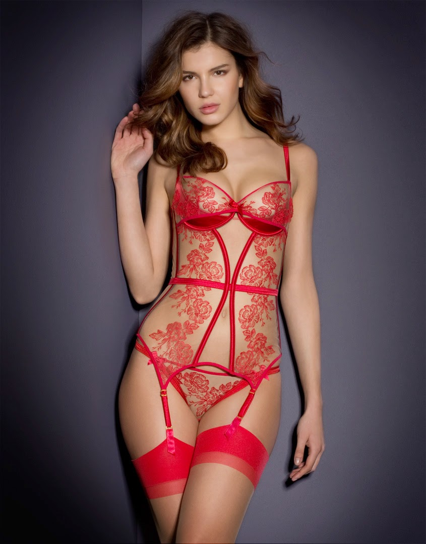 New in from Agent Provocateur with beauty lingerie.