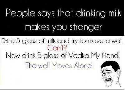 Funny fact about Vodka and milk