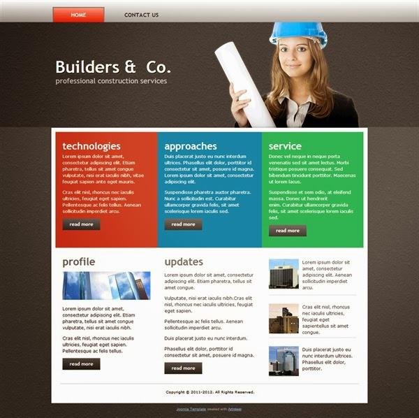Builders & Co. - Free Joomla! Template