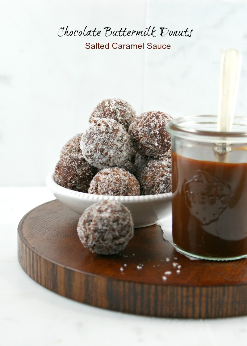 ... Gourmet: Chocolate Buttermilk Donuts with Salted Caramel Sauce