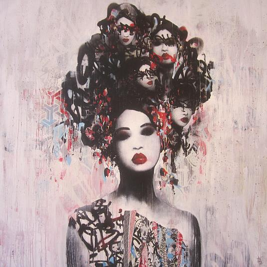 Hush, artist, shadows, corey helford gallery, flying west for the winter