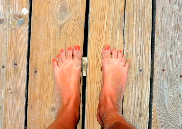 pies descalzos playa