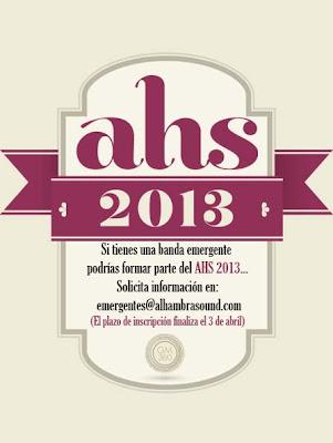 ALHAMBRA SOUND festival 2013 BANDAS EMERGENTES