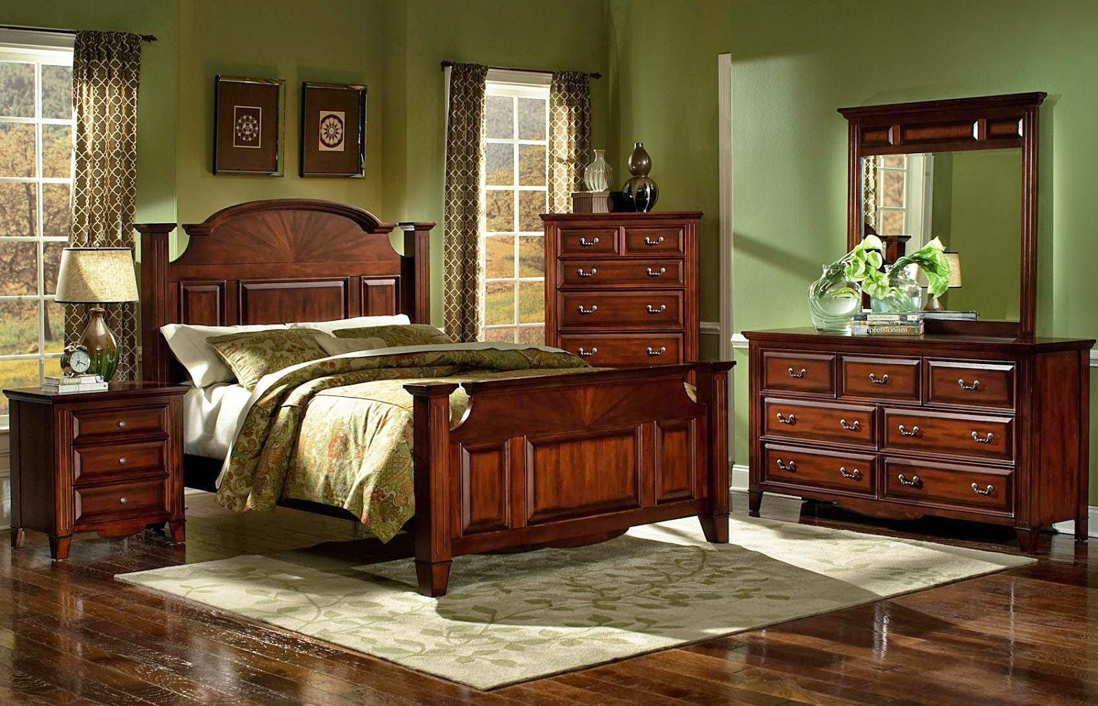 Mirror bedroom furniture set