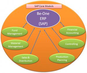 Gambar SAP Core Moduls (modul utama pada system ERP)