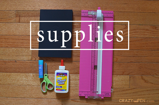 Travel Journal DIY Supplies