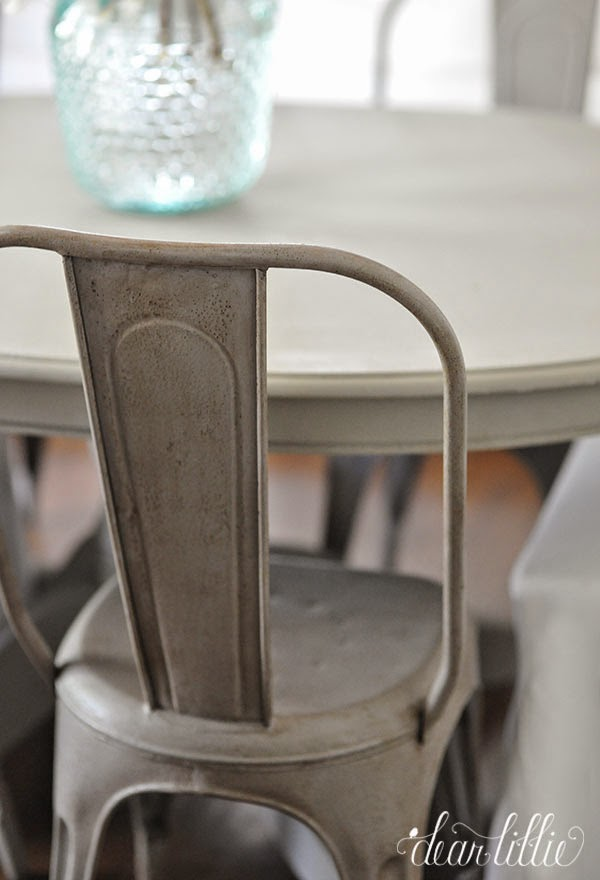 french bistro chairs in our kitchen
