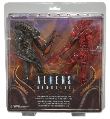 NECA Aliens Genocide 2-Pack with Black and Red Alien Warriors