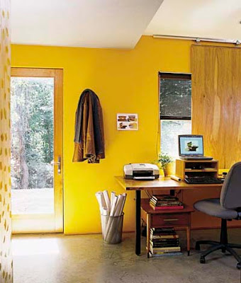 decoración con amarillo
