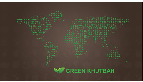 green khutbah islam environment template