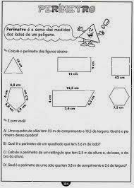 Atividades Perímetro - Atividades de Matemática - Atividades Ensino Fundamental