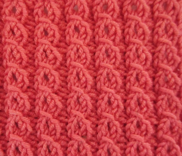 Textured Knits Eyelet Mock Cables