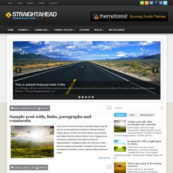 Straight Ahead blog template. magazine blogger template style. magazine style template blogspot
