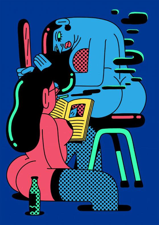 Las picaros cómics coloridos de Simon Landrein
