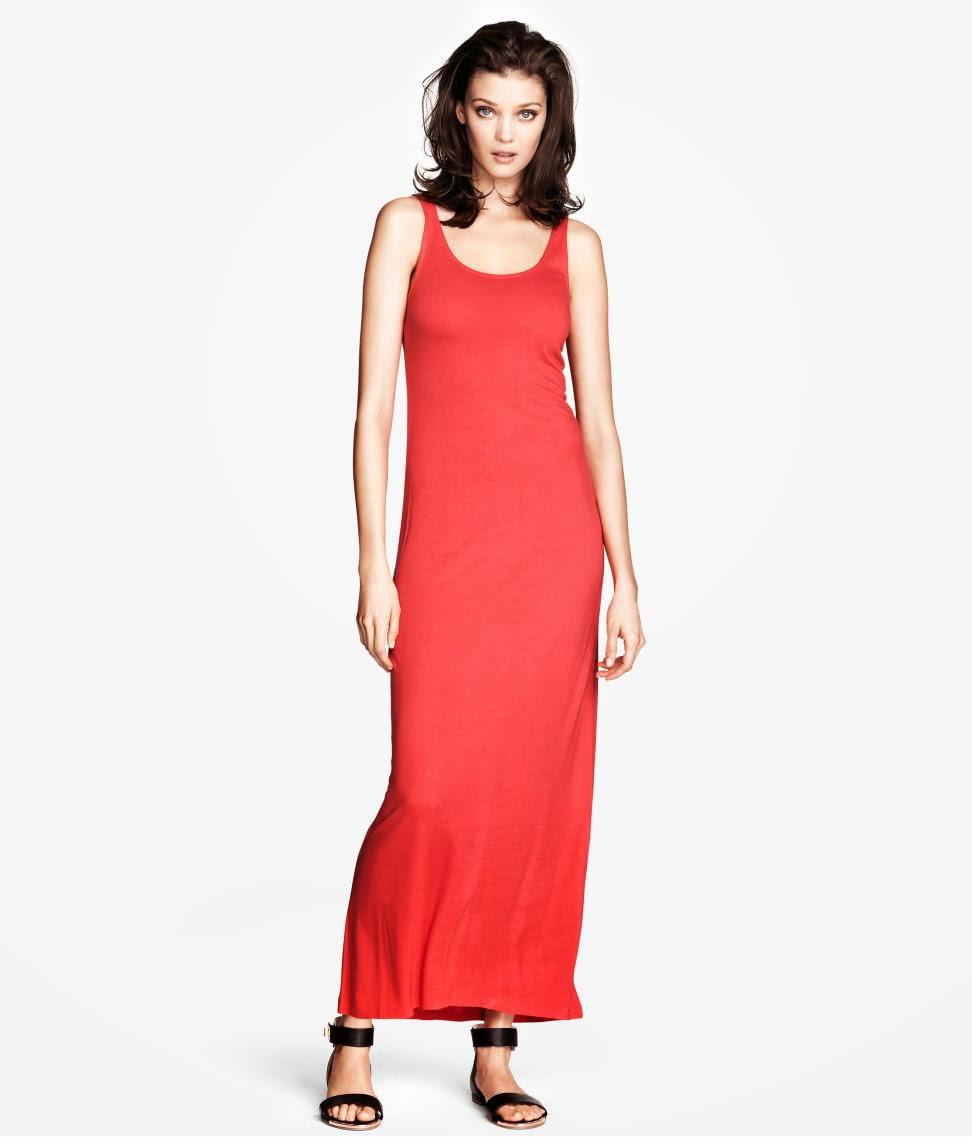 k%C4%B1rm%C4%B1z%C4%B1+ask%C4%B1l%C4%B1+elbise H & M 2014 Sommer Kleidung Models