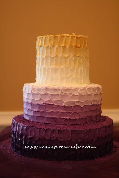 cake to remember va ombre buttercream icing wedding cake