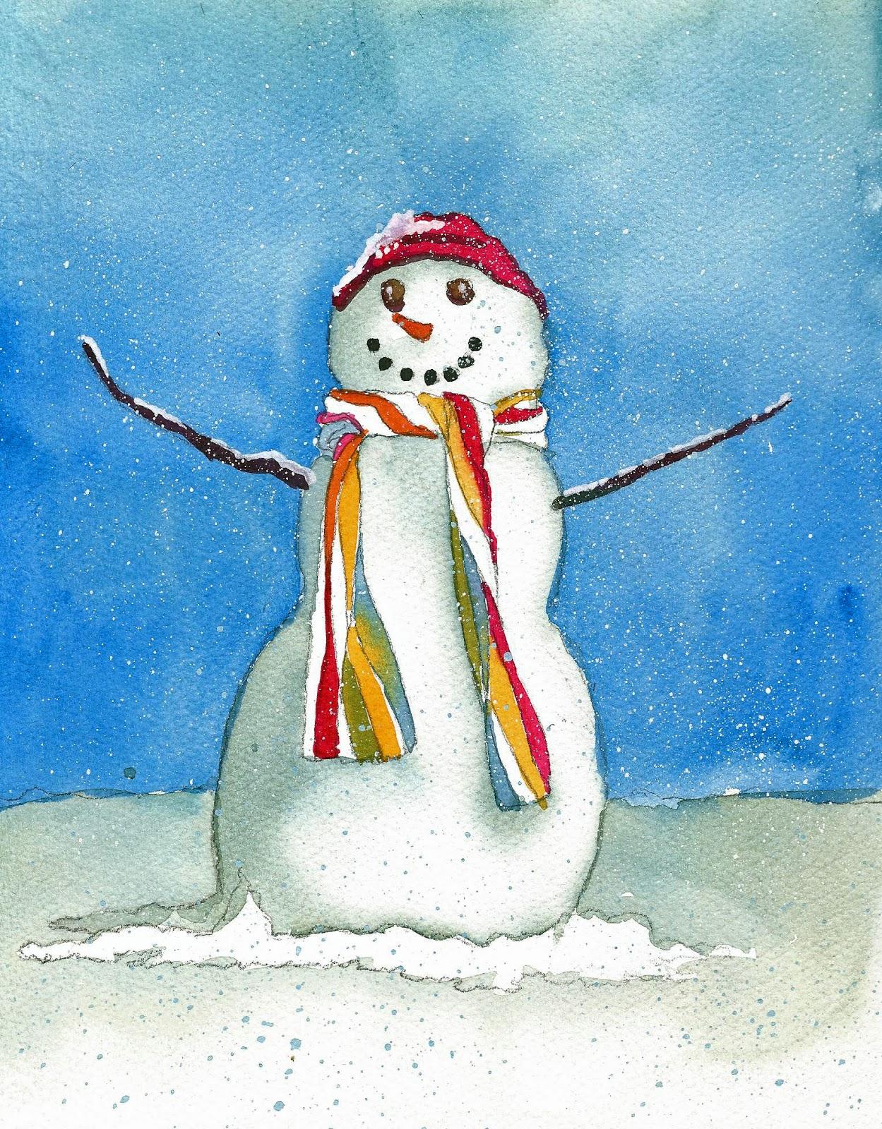 Snowman Painting Kids Site Youtube Com